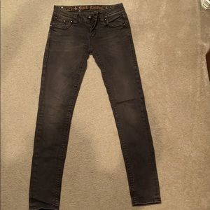 Rock Revival women's black/dark gray jeans